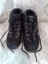 Vintage Womens Blue Suede Hiking Boots Vibram Vintage Dunham Tyroleans Italy