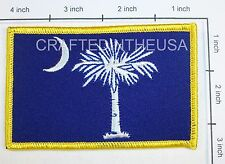 South Carolina State Flag Embroidered Patch Sew Iron On Biker Vest Applique New