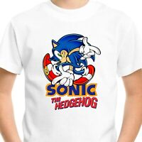 Sonic the Hedgehog T-Shirt Gift Birthday Boys Gamer Top Gaming Men Kids Tee V1