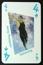 1 x playing card London 2012 Olympic Legends Jenny Thompson Swimming 4 Spades