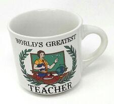"""World's Greatest Teacher"" Ceramic Coffee Mug"