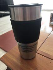kaffeebecher to go  Thermobecher Alu mit Gummirutsch fest