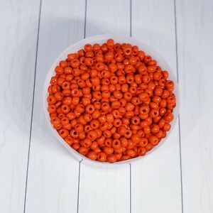 6/0 Glass Seed Beads, Opaque Colours Round , Round Red 4mm 100g
