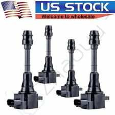 Set of 4 Ignition Coil on Plug 02 03 04 05 06 for NISSAN ALTIMA 2.5L L4 UF350