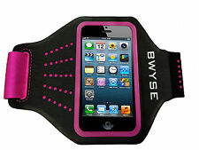 Premium Easy Fit Sport Running Armband for iPhone 5 5S & 5C black/pink