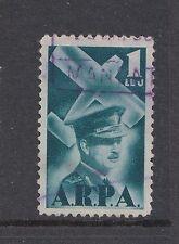 1931 Romania used 1 leu aviation fund stamp