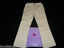 NEW My Twinn Doll Brand GIRL'S KHAKI PANTS Sz L Large w/Expandable Waist