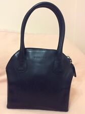 Giorgio Armani Collezioni Black Leather Handbag Shoulder Bag Tote Purse  Italy f317b841405cb