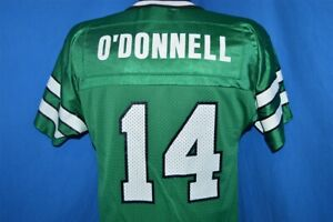 vtg 90s NEW YORK JETS NEIL O'DONNELL #14 GREEN MESH CHAMPION FOOTBALL JERSEY YL