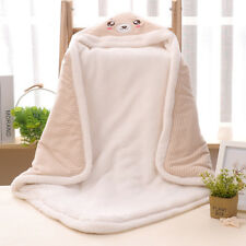 New Born Baby Lamb Sleeping Bag Infant Wrap Thicken Baby Blanket Color Cotton