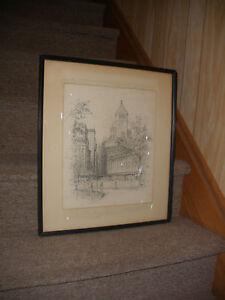 Listed EVERETT KILBURN TAYLOR New York, 1866-1952 Manhattan scene pencil drawing
