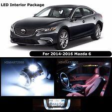 15PCS Cool White Interior LED Bulbs Package Kit for 2014 - 2016 Mazda 6 Mazda6