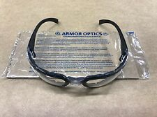 Genuine ARMOR OPTICS Comfort Padded Foam Clear Safety Glasses S2810P Free Ship
