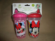 Set Of TWO Disney Minnie Mouse 10 Oz. BPA-Free Sipper Cups, BRAND NEW IN PACKAGE