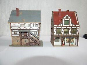 HO 00 OO gauge Job lot 2 Tudor style shop Buildings pub people houses  Vollmer