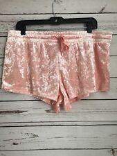 Xhilaration Large Pink Crushed Velvet Pajama Shorts Cheeky Women's