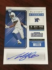 2018 Contenders Playoff Ticket Anthony Miller Memphis Bears Rookie Auto #'d 2/15