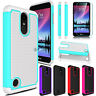 For LG Phoenix 3/Fortune/Rebel 2 Phone Case With Tempered Glass Screen Protecter