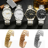 Decor Metal Bracelet Wrist Watch Band Stainless Steel Strap Straight New 14-24mm