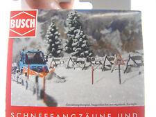 Schneefangzäune u. Schneestangen  - Busch Bausatz  HO 1:87 -  1120  #E