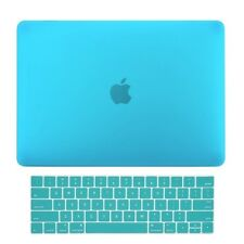 2in1 Aqua Blue Matte Hard Case+Keyboard Skin for Macbook Pro 15 WITH Touch Bar