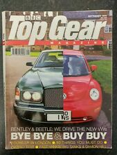 TOP GEAR MAGAZINE SEP-1998 - Mondeo ST24, Volvo S40 T4, Vectra V6 GSi, Arnage