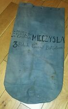 WW2 POLISH SOLDIER DUFFLE BAG