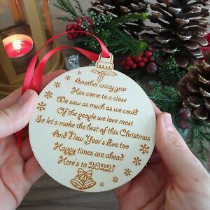 Large Poem Christmas Bauble Decoration Present Xmas Gift Ornament Motivational