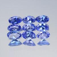 5x3mm Lot 1,2,6,10pcs Oval Cut Calibrated Natural Gem Violet Blue Tanzanite