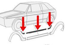 VW Golf 1 Cabriolet Schwellerdichtung Gasket Skirts Wheel Thread Seals 6 Set