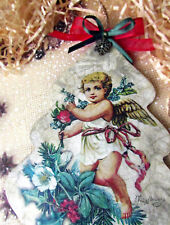 Handcrafted Christmas Tree Xmas Navidad  Angel Home Decor Craft Gifts Vintage