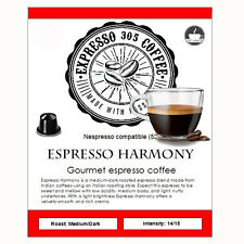 25 Nespresso capsules pods compatible FRESHLY ROASTED gourmet coffee HARMONY