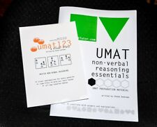 umat non-verbal reasoning essentials text book 1 & umat123 200 Qs + explanations