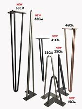 "Hairpin Table Legs (PRICE PER LEG) Size  4""-34"" Choice of Height, Style & Colour"