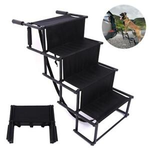 Foldable Dog Pet Ramp for Car Truck SUV Backseat Stair Steps Auto Travel Ladder