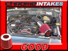 RED 93 94 95 96 97 98 JEEP GRAND CHEROKEE/LAREDO 5.2L/5.9L V8 AIR INTAKE KIT S