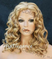 Big Perfect Spiral curly wig skin top Golden Blonde Pale Blonde WANO 24-613