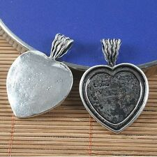 3pcs antiqued silver heart shape photo frame G1543