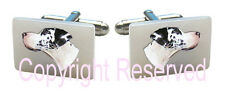 Pearl Square Cufflinks + Gift Box Scs62 Great Dane Puppy Dog Natural Mother Of