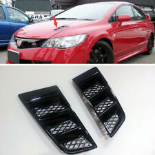 Glossy Black Bonnet Hood Vent For Honda CIVIC RR Universal Air Scoop Duct Vent