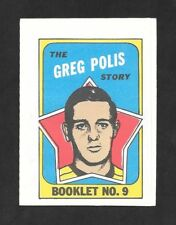 1971-72  TOPPS HOCKEY , BOOKLET # 9 , GREG POLIS