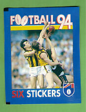#TT. UNOPENED 1994 SELECT  AFL STICKER PACK - HAWTHORN & CARLTON  FRONT