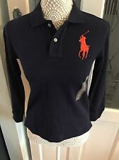 Polo Ralph Lauren Boys Designer Long Sleeves Polo Shirt Size S Rrp £65