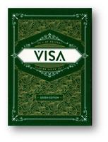 Visa Jugando a las Cartas Verde Póquer Juego de Cartas Cardistry