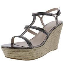 Pelle Moda Women's Cora Metallic Wedge Sandals Shoes 8.5 Medium (B,M)