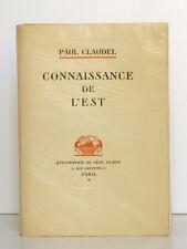 Connaissance de l'Est Paul CLAUDEL Léon Pichon 1928 Sur Japon rustique nacré…