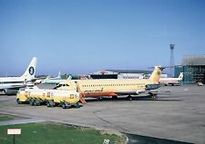 COURT LINE BAC 1-11 G-AXMK AND BY 737 G-AVRL ON RAMP LUTON -  6 x 4 Print