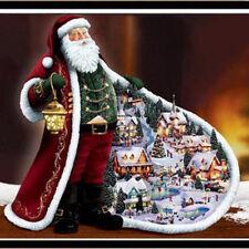 Bricolaje diamante pintura Santa Claus costura punto de Cruz bordado