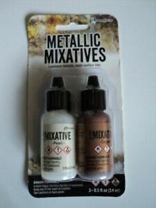 TIM HOLTZ Metallic Mixatives Ink 2 Pk 'COPPER & PEARL' BNIP **LOOK**