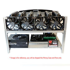 Open Air Frame Mining Case (6GPU)+4 Arctic F12 Silent Fan/Ethereum Zcash BitCoin